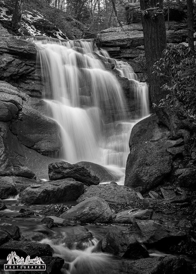 Downstream view of Swatara Falls, Schuylkill County, PA - 3.25.2017