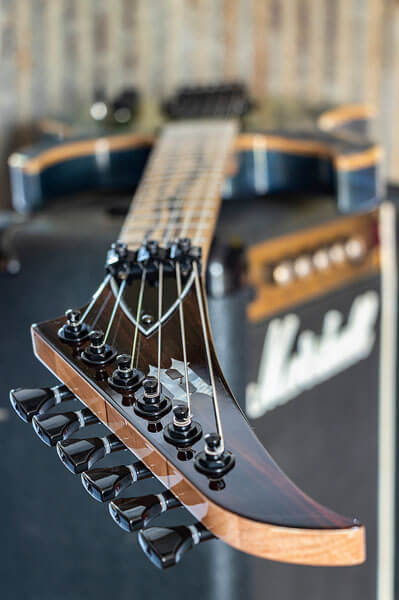 Tuner peg close-up photo of custom-built guitar by State College photographer Rusty Glessner