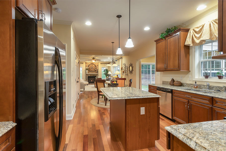 Granite and stainless steel kitchen photo by State College real estate photographer Rusty Glessner