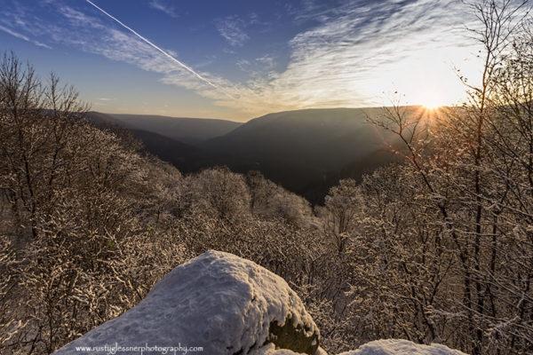 Baughman Rock Sunrise, Ohiopyle State Park.