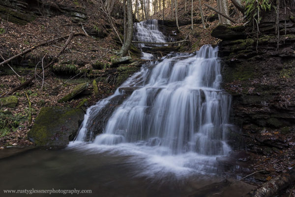 Bear Run Falls #3, upper and lower tiers, Colton Point State Park, Tioga County