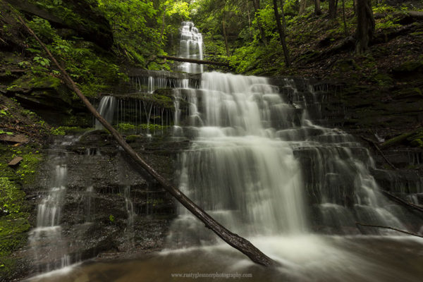 Chimney Hollow Falls (upper and lower tiers) in the Pine Creek Gorge Natural Area