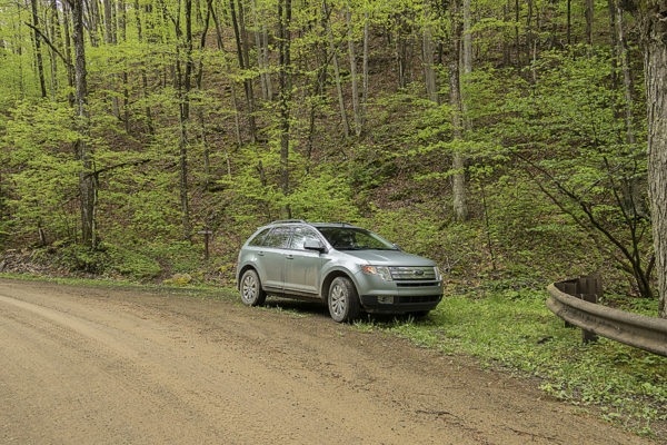 Parking for Dutters Trail along Dry Run Road, Sullivan County