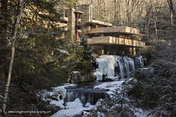 Fallingwater, Fayette County, PA. Photographed 1.23.2015.