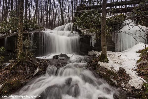 Fechter Run Falls (front view), Ohiopyle State Park, 3.11.2015