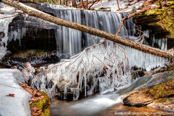 Kyler Fork Falls, Chuck Keiper Trail, Sproul State Forest
