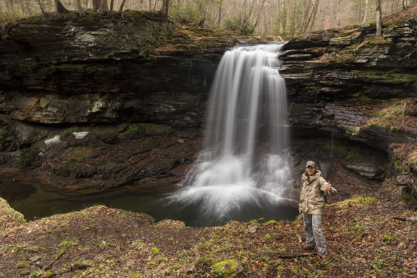 Lewis Falls selfie, State Game Lands 13, Sullivan County, PA.