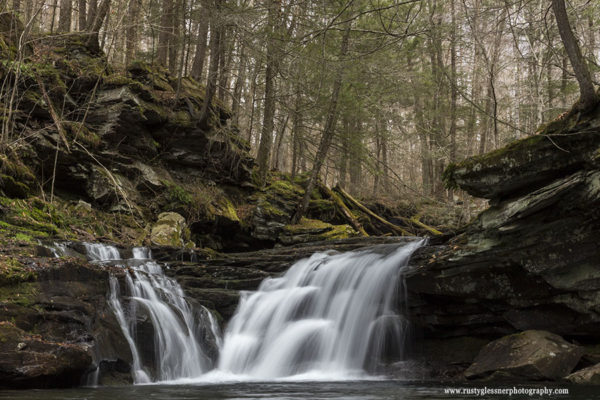 Lower Twin Falls, Herberly Run, State Game Lands 13, Sullivan County, PA.