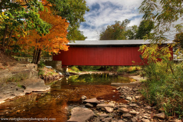 Fall foliage near the New Baltimore Covered Bridge, Somerset County, PA.