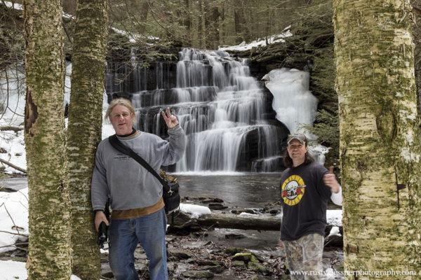 Steve Rubano and Rusty Glessner at Rosecrans Falls.