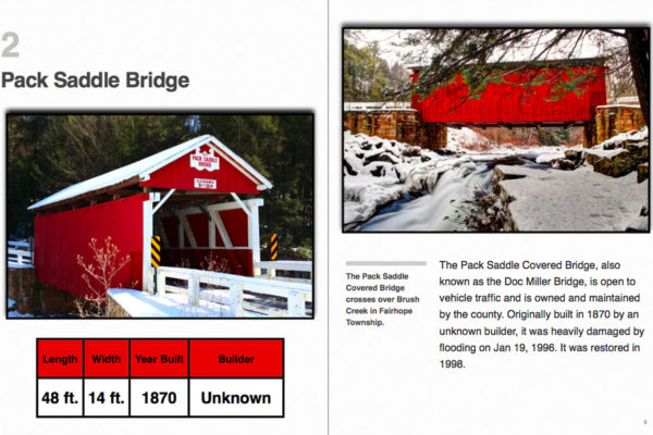 Somerset County Covered Bridges: An Illustrated Guide sample page
