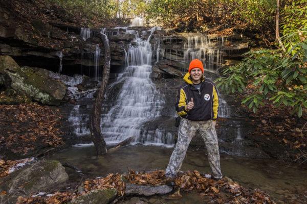 Self -portrait at Sugar Run Falls, Ohiopyle State Park, Fayette County, PA
