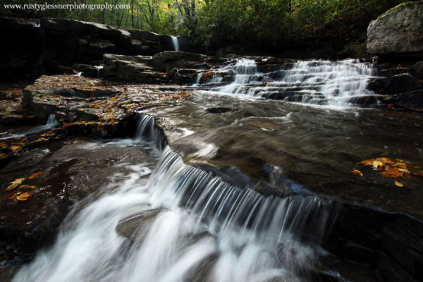 Early autumn morning at Upper Jonathan Run Falls - Ohiopyle State Park.