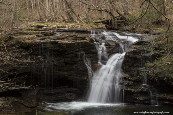 Upper Twin Falls, Herberly Run, State Game Lands 13, Sullivan County, PA