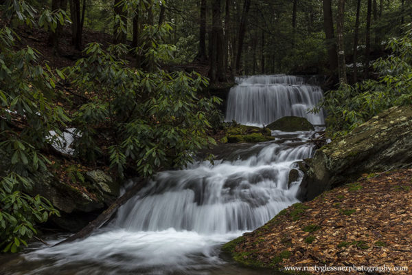 Downstream at Yost Run Falls, Sproul State Forest, Centre County -