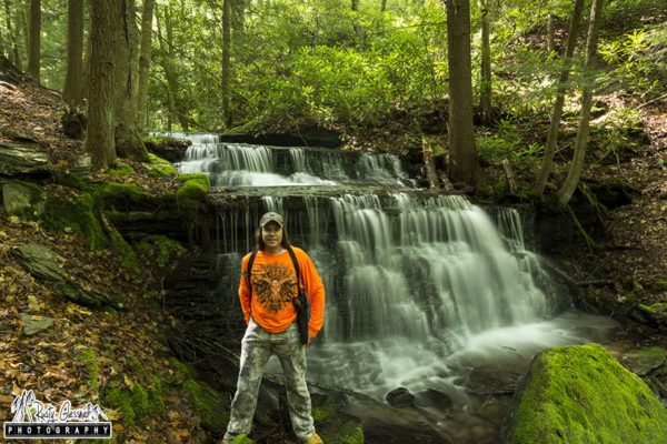 Selfie at Yost Run Falls, Centre County, PA