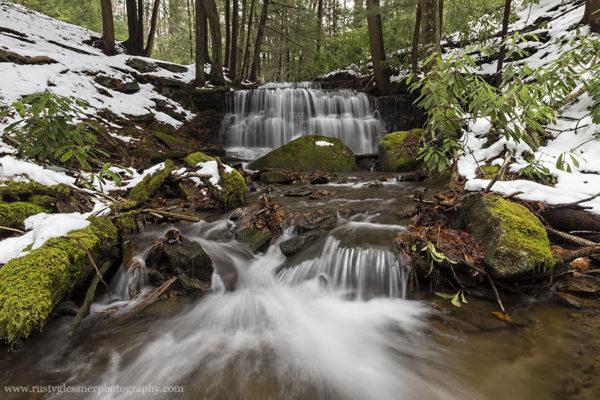 Downstream view of Yost Run Falls.