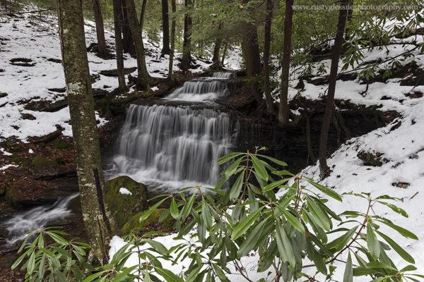 Yost Run Falls, facing the Chuck Keiper Trail.